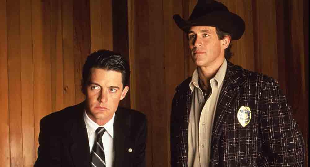 Os dois personagens responsáveis pela investigação em Twin Peaks (Imagem: Reprodução/ABC)