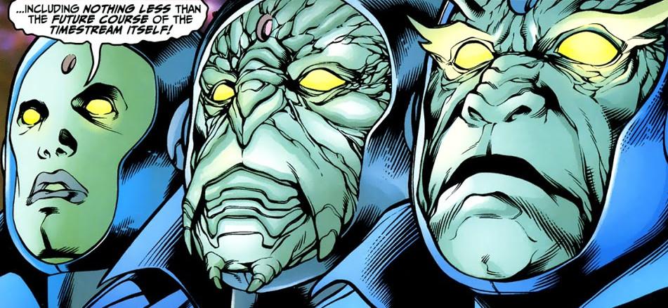 Os três Guardiões do Tempo nos quadrinhos (Imagem: Reprodução/Marvel Comics)